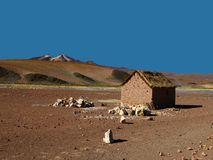 Altiplano hut Royalty Free Stock Photos