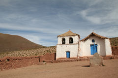 Altiplano Kirche Stockfoto