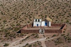 Altiplano Kirche bei Machuca Stockbild