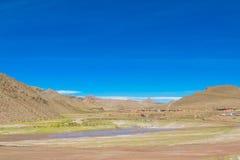 Altiplano liggande Fotografering för Bildbyråer