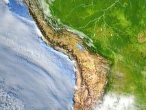 Altiplano na planety ziemi ilustracja wektor