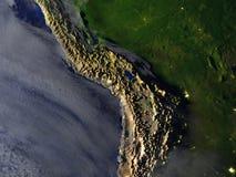 Altiplano na realistycznym modelu ziemia ilustracja wektor