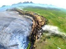 Altiplano na ziemi - widoczna ocean podłoga ilustracja wektor