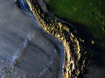 Altiplano na ziemi - widoczna ocean podłoga ilustracji