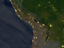 Altiplano przy nocą na planety ziemi royalty ilustracja