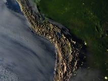 Altiplano przy nocą na planety ziemi ilustracji