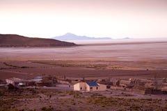 Altiplano Sunset, Bolivia. A desert landscape in Bolivia near Uyuni royalty free stock image