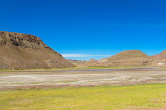 Altiplano torrt flodlandskap Royaltyfri Bild