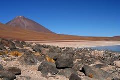 Altiplano vulkan Arkivfoto