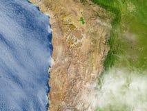Altiplano w Andes na planety ziemi ilustracja wektor