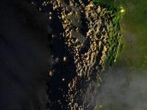 Altiplano w Andes na realistycznym modelu ziemia ilustracji