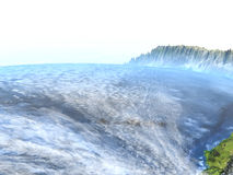 Altiplano w Andes na ziemi - widoczna ocean podłoga royalty ilustracja