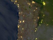 Altiplano w Andes przy nocą na planety ziemi ilustracji