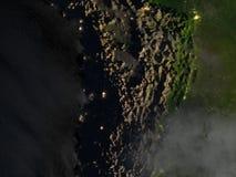 Altiplano w Andes przy nocą na planety ziemi ilustracja wektor
