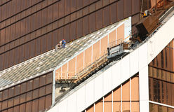 Altitude adjusters at the construction Stock Image