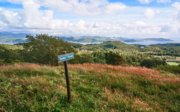 Altitude de l'île, une vue des fjords et d'autres îles à partir du dessus photos stock