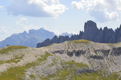 Altitude and Dolomiti mountains Stock Image