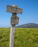 Altitude marker at Round Bald in Roan Mountain State Park Stock Photography