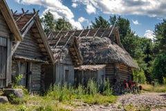 Altja渔村 库存图片