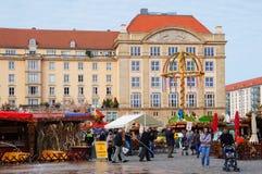 Altmarkt jesieni jarmark w Drezdeńskim Fotografia Royalty Free