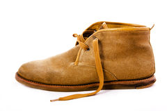 Altmodische braune Stiefel Stockfotos