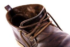 Altmodische braune Stiefel Stockbild