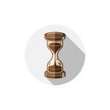 Altmodische einfache 3d Sanduhr, Zeitmanagement-Geschäftsikone Stockfoto