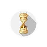 Altmodische einfache 3d Sanduhr, Zeitmanagement-Geschäftsikone Stockbilder