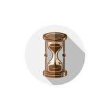 Altmodische einfache 3d Sanduhr, Zeitmanagement-Geschäftsikone Stockfotografie