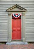 Altmodische Tür mit UnabhängigkeitSwag Lizenzfreie Stockfotografie