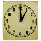 Altmodische Uhr, die ein Uhr zeigt Lizenzfreies Stockbild