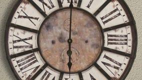 Altmodische Uhr, timelapse stock video