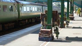 Altmodischer Bahnhof in Großbritannien Stockfoto