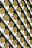 Altmodischer Metallzaun Stockfoto