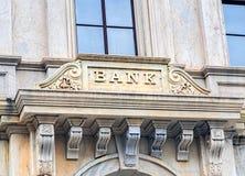 Altmodisches Bankgebäude Stockbild