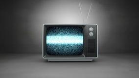 Altmodisches Fernsehen mit Static stock video
