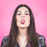 Altmodisches Frauen-Porträt lizenzfreie stockbilder