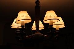 Altmodisches hölzernes Licht Stockbild