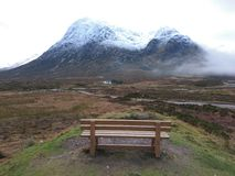 Altnafaidh car park at the foot of the beuchallie etive mor,  glencoe, scotland Royalty Free Stock Photos
