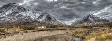 Altnafeadh Skottland i vinter Arkivfoton