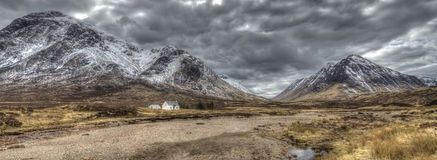 Altnafeadh, Szkocja w zimie Zdjęcia Stock