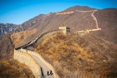 Alto ángulo de la Gran Muralla Foto de archivo libre de regalías