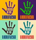 Alto ένα violencia Λα - ισπανικό κείμενο βίας στάσεων απεικόνιση αποθεμάτων