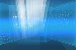 Alto abstrato - tela com códigos binários, mundo digital da tecnologia ilustração stock