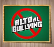 Alto al Bullying - Stop Bullying spanish text Royalty Free Stock Photos