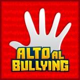 Alto al Bullying - Stop Bullying spanish text Royalty Free Stock Photo