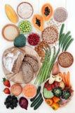 Alto alimento sano della fibra fotografie stock
