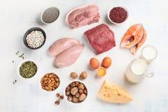 Alto - alimentos da proteína imagem de stock royalty free