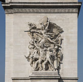 Alto alivio de Arc de Triomphe Fotografía de archivo
