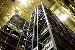 Alto almacén de la fábrica de la subida Fotografía de archivo
